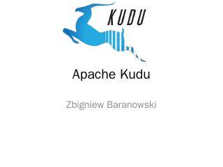 Cloudera Kudu - CERN Indico