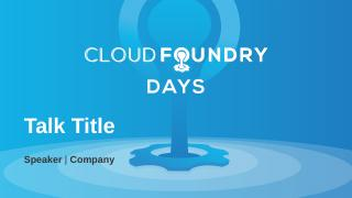 Cloud Foundry In a Box