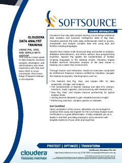 cloudera training - SoftSource Solutions Pte Ltd