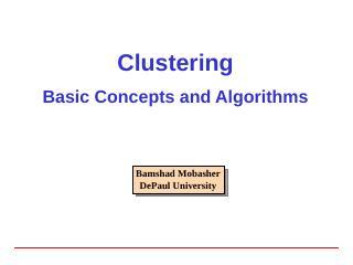 Clustering - DePaul University