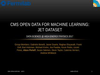 cms open data for machine learning: jet datas...