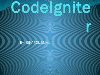 CodeIgniter - NoviNaldi