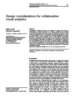 Design considerations for collaborative visua...