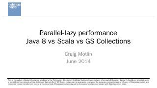 Compare Java Streams, Scala parallel Collecti...