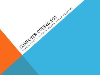 Computer Coding 101