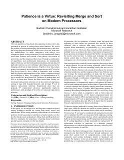 现代处理器上的合并和排序
