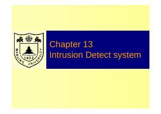 计算机系统信息安全:入侵检测技术