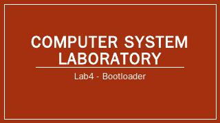 Computer System Laboratory - RSWiki