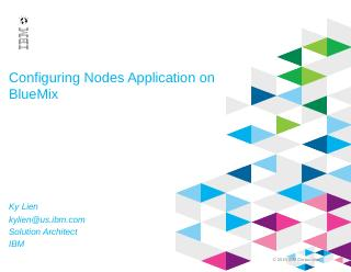Configuring Nodes Application on BlueMix - IBM