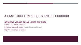 CouchDB Intro - Javier Espinosa