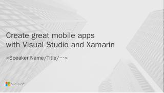Create Great Mobile Apps