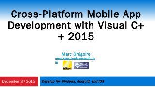 Cross-Platform Mobile App Development with Vi...