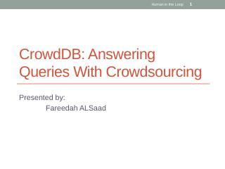crowddb