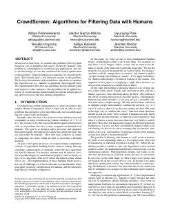 CrowdScreen: Algorithms for Filtering Data wi...