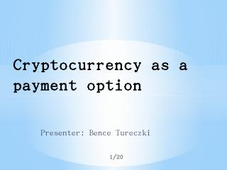 Cryptocurrency as a payment option