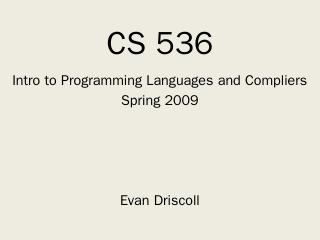 CS 536 - Wisc