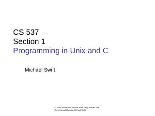 CS 537 Section - Wisc