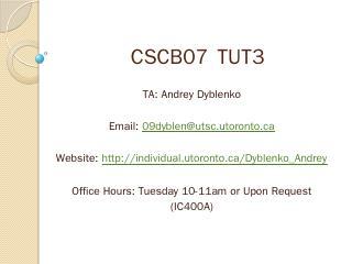 CSCB07 TUT3