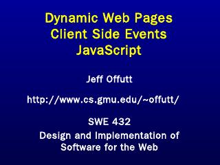 CSS & JS (pptx) - GMU CS Department