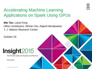 cuMF with Spark - IBM Research