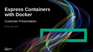 Customer presentation Express Containers with...