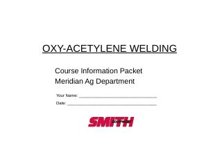 Cutting with oxy-acetylene - West Ada