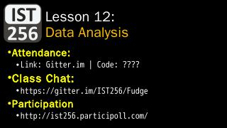 Data Analysis with Pandas - IST256