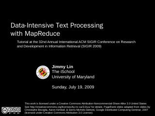 Data-Intensive Text Processing with MapReduce...