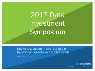 Data Investment Symposium Presentation Handou...