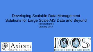 Data Management for AIS Data_DMAC Meeting 201...