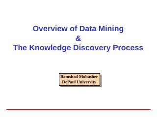 Data Miing and Knowledge Discvoery - Web Data...