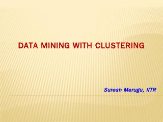 data mining and clustering - ResearchGate
