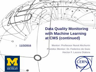 Data Quality Monitoring with Machine Learning...