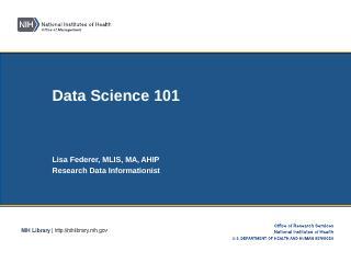 Data Science 101 - NIH