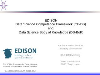 Data Science Body of Knowledge (DS-BoK) - Res...