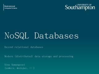 Data Warehousing and NoSQL - EdShare