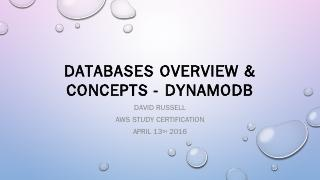 Databases Overview & Concepts - DynamoDB - Me...