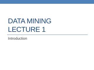 datamining lect1