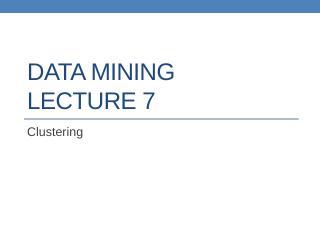 datamining lect7