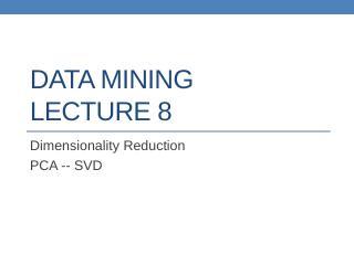 datamining lect9
