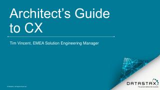 Datastax - The Architect's guide to customer ...