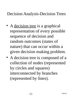 Decision Analysis-Decision Trees - umich.edu ...