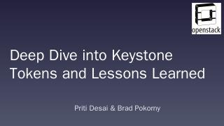 Deep Dive into Keystone Tokens and Lessons Le...