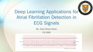 Deep Learning Applications for Atrial Fibrill...