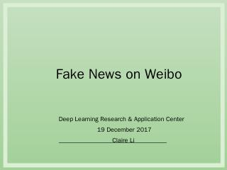 Deep Learning Research & Application Center 1...