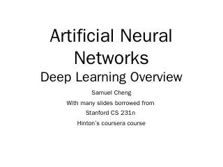 Deep Learning - Samuel Cheng