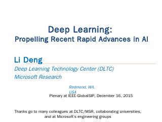 Deep Learning - SigPort
