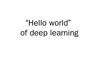 Deep Learning Toolkit: Keras - NTU Speech Pro...