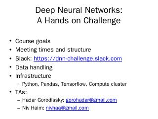 Deep Neural Networks: A Hands on Challenge - ...