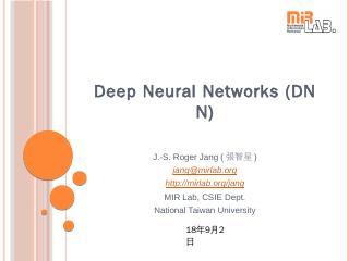 Deep Neural Networks (DNN)